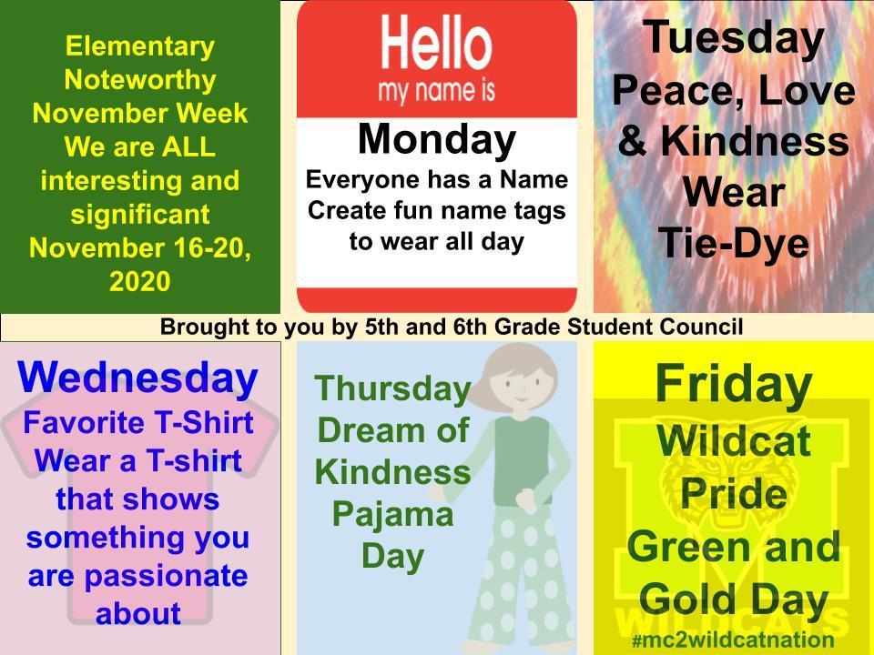 Noteworthy November Dress Up Days