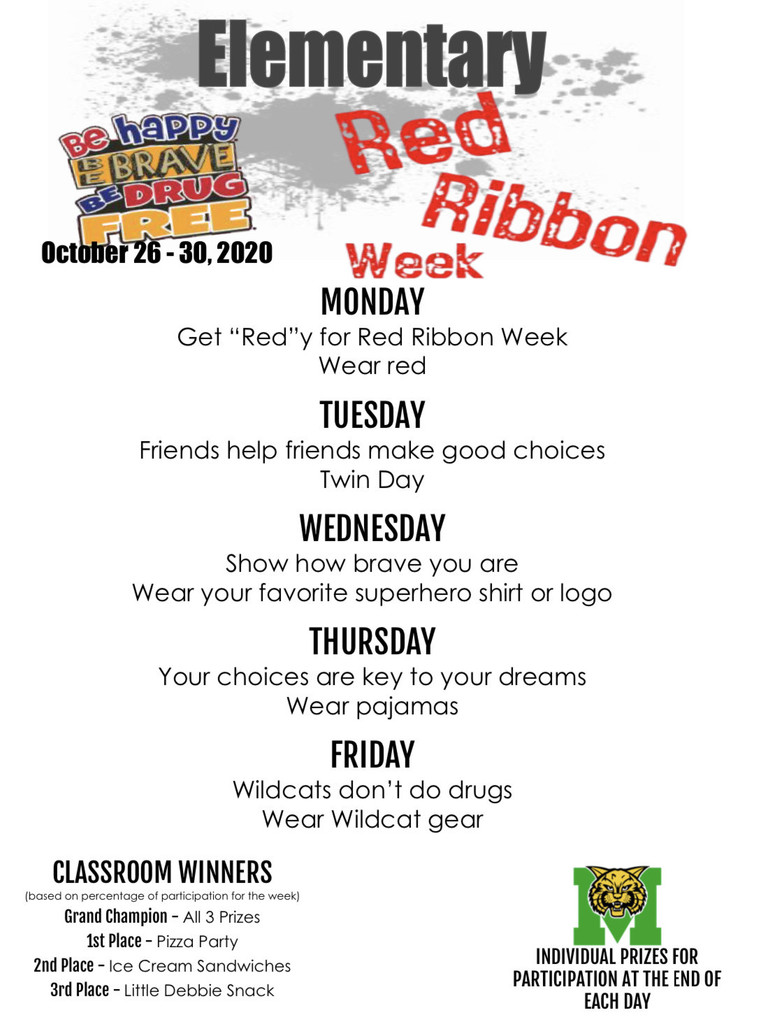 Red Ribbon Dress Up Days 2020 (Elementary)
