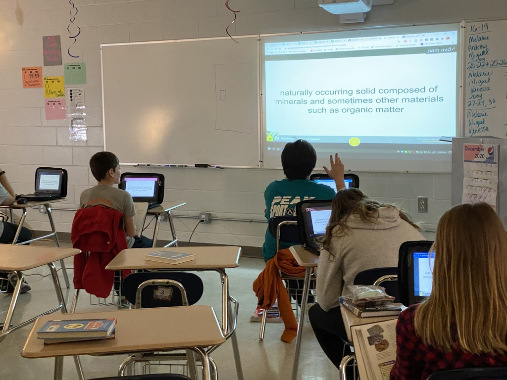 6th Grade Science using PearDeck to review Earth Systems
